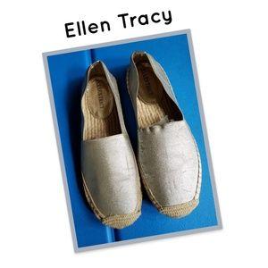 Elle Tracy Espadrilles Silver Shoes